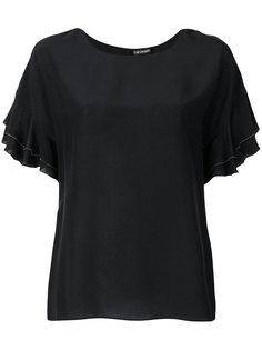 футболка с оборками на рукавах  Twin-Set