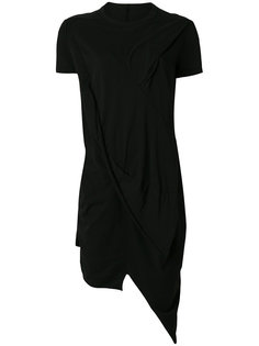 асимметричная драпированная футболка  Rick Owens DRKSHDW