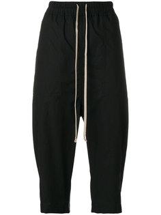 укороченные брюки с талией на шнурке Rick Owens DRKSHDW