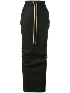 длинная юбка с эластичным поясом Rick Owens DRKSHDW