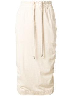 юбка с кулиской Rick Owens DRKSHDW