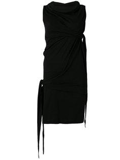 короткое платье с драпировкой Rick Owens DRKSHDW