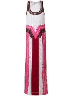 вечернее платье с кружевной вставкой  Valentino