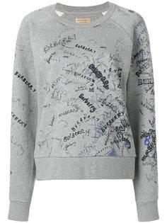 свитер с логотипом  Burberry