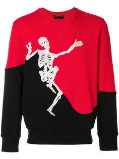 толстовка со скелетом Alexander McQueen