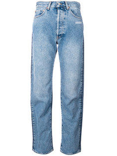 джинсы с контрастной вставкой  Off-White