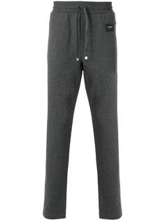 спортивные брюки узкого кроя с заплаткой с логотипом Dolce & Gabbana