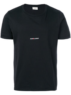 футболка с принтом логотипа Saint Laurent