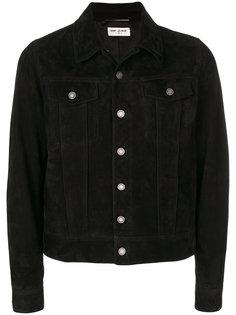 кожаная куртка на пуговицах Saint Laurent