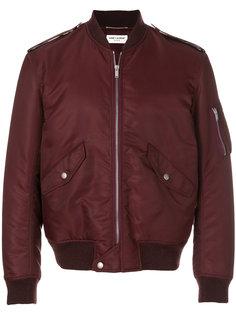 куртка-бомбер на молнии Saint Laurent