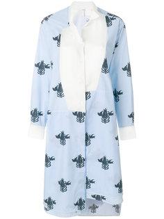 асимметричное платье-рубашка  Loewe