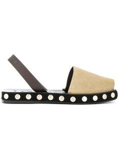 сандалии с заклепками на подошве Loewe