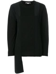 асимметричный свитер со вставкой  Stella McCartney