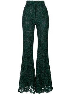 расклешенные кружевные брюки  Dolce & Gabbana