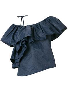 asymmetric ruffle blouse Marquesalmeida