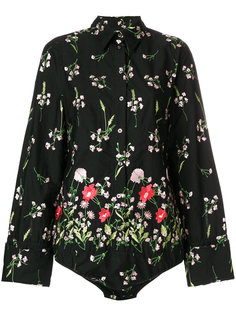 рубашка с цветочным принтом Marquesalmeida