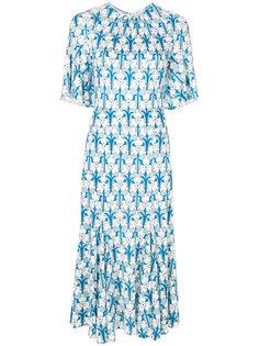 платье миди с принтом  Prada