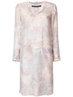 платье-шифт с тонально-градиентным принтом Raquel Allegra