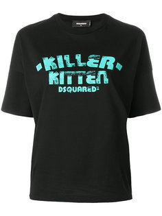 футболка Killer Kitten Dsquared2