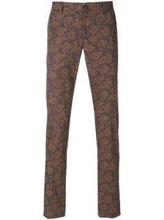 брюки с узором пейсли Etro