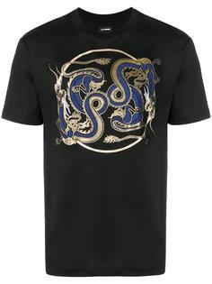 футболка с драконом Les Hommes