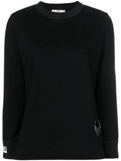 толстовка с вышитым логотипом  Fendi