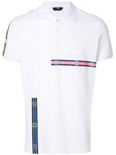 рубашка-поло с заплаткой с логотипом Fendi