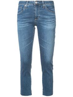 укороченные облегающие джинсы Ag Jeans