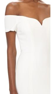Badgley Mischka Collection Off Shoulder Short Sleeve Gown