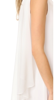 Badgley Mischka Collection One Shoulder Draped Gown