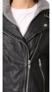 Doma Hooded Leather Jacket