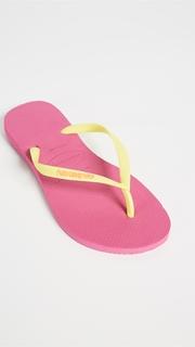 Havaianas Slim Logo Pop Up Flip Flops