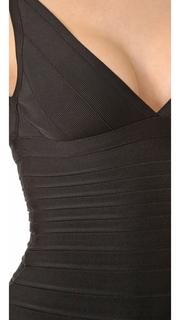Herve Leger Signature Essentials Cocktail Bandage Dress