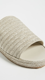 KAANAS Martinique Raffia Slides