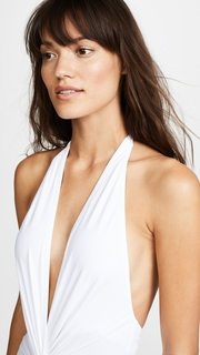 Karla Colletto Plunge Back One Piece Swimsuit