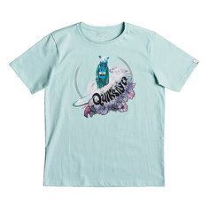 Футболка детская Quiksilver Sslogbearyouth Eggshell Blue