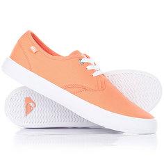 Кеды кроссовки низкие Quiksilver Shorebreak Orange/Black