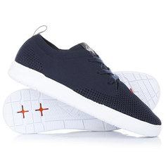 Кеды кроссовки низкие Quiksilver Shorbrkstreknit Blue/Grey