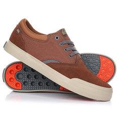 Кеды кроссовки низкие Quiksilver Verant Brown/Orange