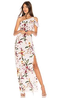Макси платье с цветочным принтом hudson - Clayton