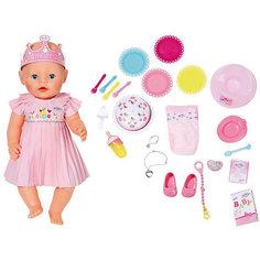"""Интерактивная кукла Zapf Creation """"Baby Born"""", нарядная с тортом, 43 см"""