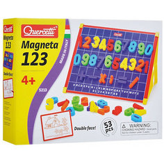 Магнитная доска Quercetti, с цифрами, 53 детали