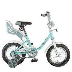 """Велосипед Novatrack 12"""" UL, зелёный, сидение для куклы"""