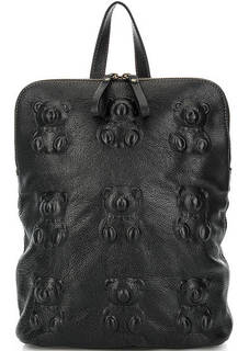 Кожаная сумка-рюкзак с тиснением Io Pelle