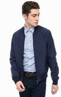 Куртка бомбер синего цвета Trussardi Jeans