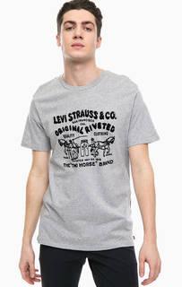 Хлопковая футболка с круглым вырезом Red Tab Levis®