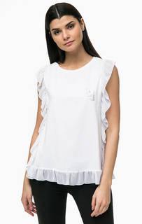 Хлопковая футболка с прозрачными вставками Liu Jo