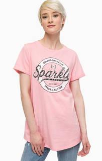 Розовая футболка с металлической отделкой Liu Jo
