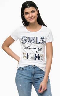 Белая футболка с декоративной отделкой Liu Jo