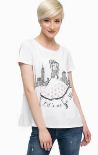 Хлопковая футболка с лентами на спине Liu Jo